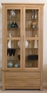 opus oak glass display cabinet solid oak