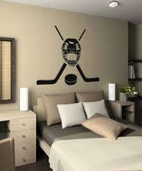 Vinyl Wall Decal Sticker Hockey Equipment Os Aa722 Stickerbrand Wall Art Decals Wall Graphics And Wall Murals Hockey Room Boys Hockey Room Hockey Bedroom