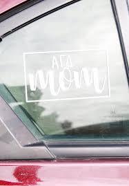 Mom Decal Alpha Gam Boutique