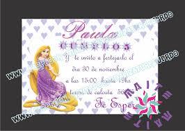 Maite Personaliza Tu Recuerdo Invitacion De Rapunzel