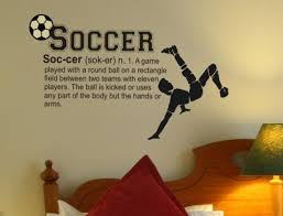 Soccer Definition Wall Decal Soccer Wall Sticker Soccer Room Wall Decals Vinyl Wall Decals