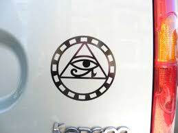 Horus Eye Circle Gods Myth Magic Stickers Car Van Bumper Window Decal 5212 Black Archives Midweek Com