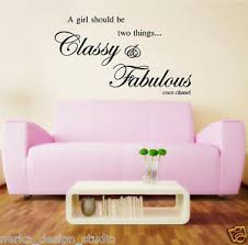 Classy Fabulous Wall Quotes Wall Decal Stickers Wall Art Quote Coco Chanel N47 Ebay