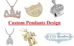 custom 10k white gold pendant design