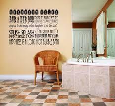 Bathroom Rules Rub A Dub Dub Brush Your Teeth Decal 20x30 Contemporary Wall Decals By Design With Vinyl
