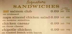 calorie info on menu boards