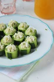 Cucumber Cream Cheese Rounds - Flour & Spice