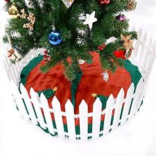 Wonderfulwu Fence White Plastic Picket Fence Miniature Home Garden Christmas Xmas Tree Wedding Party Decoration Fence Garden Outdoor Cjp Org In