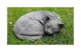 sleeping cat garden ornament garden