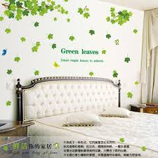 2016 New Green Maple Leaves Wall Decals Pvc Removable Wall Sticker Home Decor Nature Art Mural Decoration Natural Home Decor Olivia Decor Decor For Your Home And Office