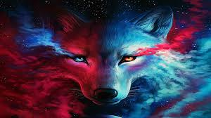 80 galaxy wolf wallpapers on wallpaperplay