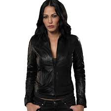 costoso italiano black leather jacket