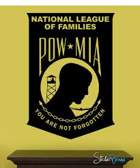 Prisoner Of War Missing In Action We Are Not Forgotten Pow Mia Military Wall Decal 317 Stickerbrand