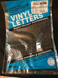 Permanent Adhesive Vinyl Letters Numbers 3 4 Gothic Black A051 Ebay