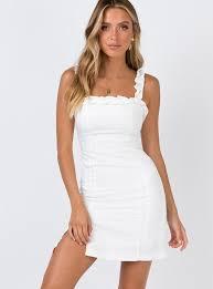 The Thomas Mini Dress White – Princess Polly USA