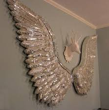 sparkly angel wings wall decor angel