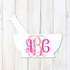 Lilly Mortar And Pestle Monogram Decal Sew Southern Designs