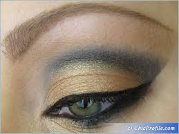 gold black dramatic makeup look