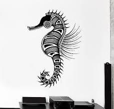 Wall Vinyl Sea Horse Ocean Symbol Ornament Mural Vinyl Decal Unique Gi Wallstickers4you