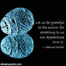 samuel butler quotes on being grateful to the mirror abrainyquote