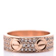 cartier 18k pink gold diamond paved