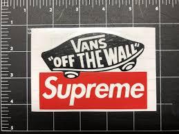 Vans X Supreme Vinyl Decals Stickers Myf Way Vinyl Decal Stickers Vinyl Decals Decals Stickers