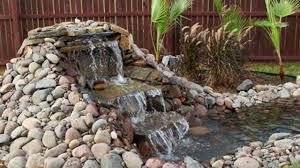 mini waterfalls and handmade founns