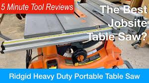 Ridgid R4513 Portable Table Saw Five Minute Tool Reviews Youtube
