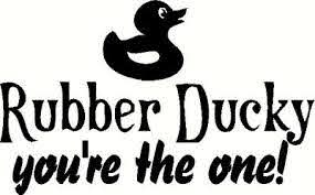 Rubber Ducky Wall Sticker Vinyl Decal The Wall Works