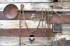Reclaimed Wood Tool Fence With Farm Supply Sign Funky Junk Interiors