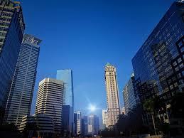 central jakarta city hight blue