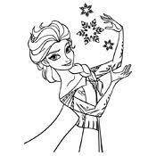 Kleurplaat Frozen Olaf Disney 3945