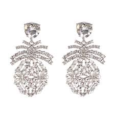 white ur earrings fruits modeling high