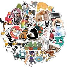 2020 Car Stickers Cartoon Cute Cat For Skateboard Laptop Fridge Helmet Stickers Pad Bicycle Bike Motorcycle Ps4 Notebook Guitar Pvc Decal From Cindyyyyy 1 72 Dhgate Com