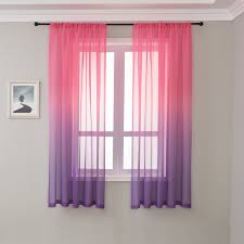 American Style Rainbow Curtain For Kids Room Bedroom Sheer Voile For Living Room Wedding Tulle Drape Cortinas W Zh041 40 Curtains Aliexpress