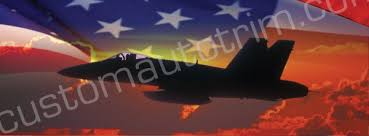 Military Aircraft Rear Window Graphics Back Window Decals