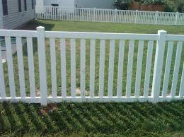 White Vinyl 4 With 3 Spaced Pickets Allstar Fence