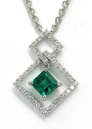 las gemstone and diamond pendant