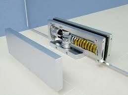 hydraulic glass door hinge biloba unica