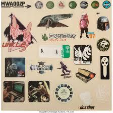 Mo Wax Mwa002p 1997 Vinyl Sticker Sheet 12 X 12 Inches 30 5 X Lot 42148 Heritage Auctions