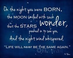 on the day you were born baby quotes
