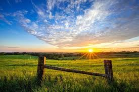 Iowa Landscape Madison County Rolling Hills Countryside Fields Wooden Fence Posts Sunset Photo Canvas Print In 2020 Wooden Fence Posts Wooden Fence Backyard Fences