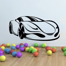 Supercar Sports Car Wall Sticker Mural Decal Kids Bedroom Home Decor Ar3