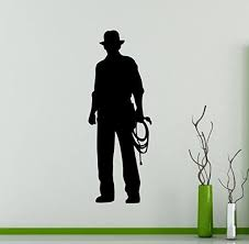 Indiana Jones Wall Decal Movie Character Vinyl Wall Sticker Home Decor Ideas Interior Removab Wall Stickers Home Decor Wall Stickers Murals Vinyl Wall Stickers
