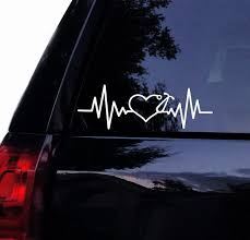 Heartbeat Stethoscope Decal Medical Nurse Doctor Stethescope Vinyl Car Decal Laptop Decal Car Wall Window Wall Sticker 15x5 Cm White Wish