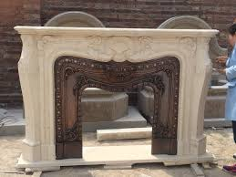 stone carving marble fireplace