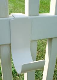 Picket Fence Hooks 6 Inch Long Pair Mide Products Llc