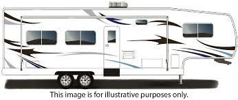 Amazon Com Rv Trailer Camper Large Vinyl Decals Graphics Kit 34 K 1 Automotive