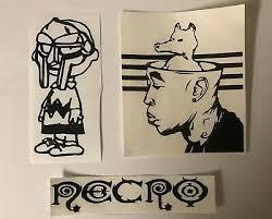 Mf Doom Charlie Brown Freddie Gibbs Quasimoto Necro Hip Hop Vinyl Sticker Set Ebay