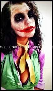 coolest female joker homemade costume